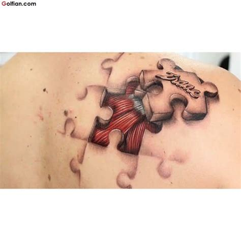 puzzle tattoo man 50 most beautiful 3d puzzle tattoos realistic 3d puzzle