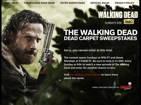 Walking Dead Play Dead Sweepstakes - walking dead dead carpet sweepstakes floor matttroy