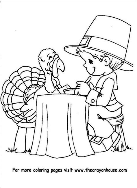 thanksgiving pilgrim boy to color coloring pages az