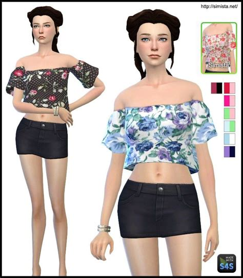 sims 4 female halter top 49 best images about sims 4 female tops on pinterest