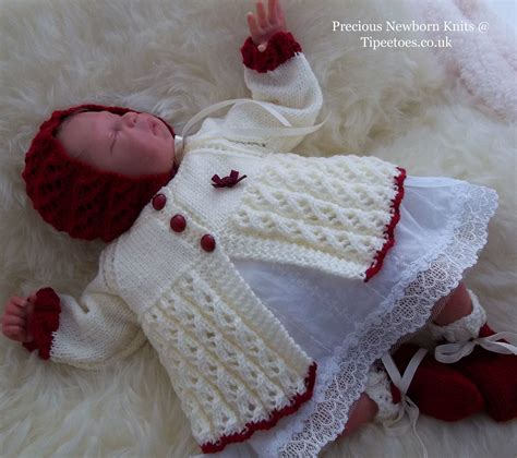 newborn knit baby knitting pattern baby or reborn dolls sweater set