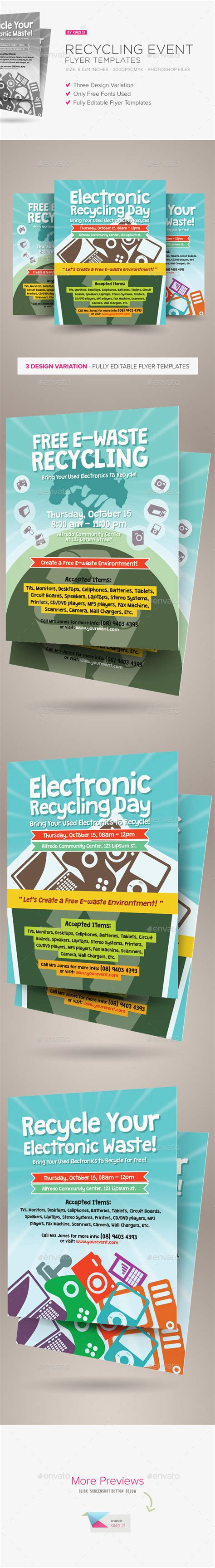 Recycling Flyers Templates Free 187 Dondrup Com Graphicriver Event Flyer Template