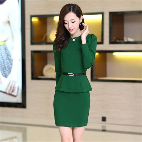 Baru Premium Korea Office Dress Pink image gallery korean fashion dress
