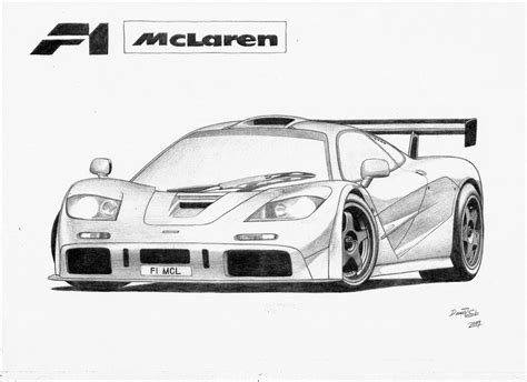 mclaren drawing mclaren f1 lm by dsl fzr on deviantart