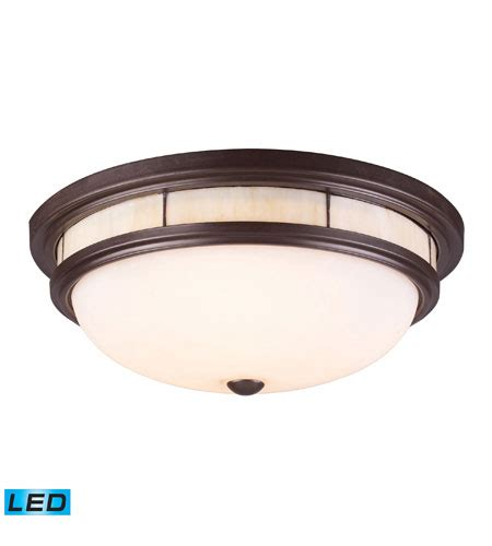 elk 70014 3 led led 16 inch bronze flush