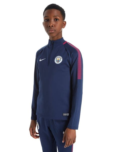 Vest Hoodie Manchester City Fc 03 nike manchester city fc 2017 18 squad drill top junior in blue for lyst