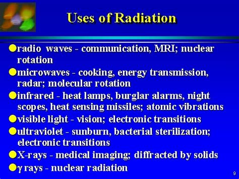 uses of uses of radiation