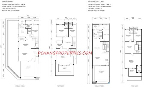 bayan villa layout plan one residence sathu terraces house for sale rent in