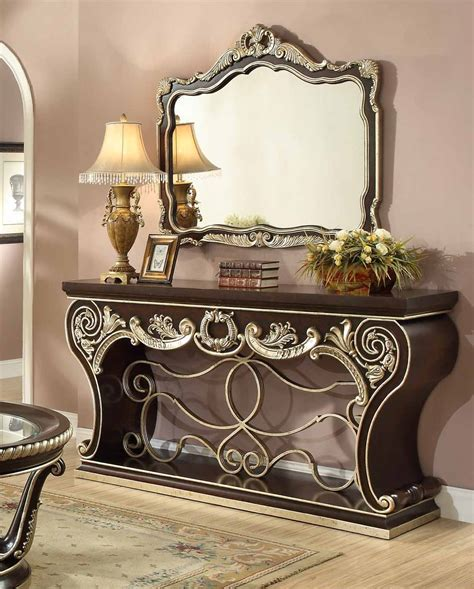 Entrance Tables And Mirrors Hd 213 Homey Design Hamilton Entrance Table Mirror