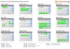 Kalender 2018 Mit Feiertagen Mv Kalender 2018 Ferien Mecklenburg Vorpommern Feiertage