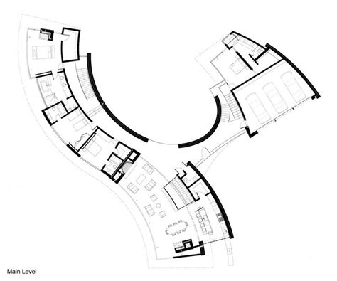 organic floor plan sophisticated waterfront house in curved shape perfect