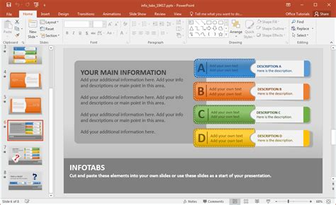 Create Animated Infographics With Info Tabs Powerpoint Template Powerpoint Tabs Template