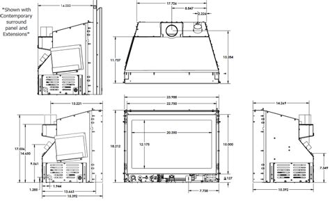 gas insert fireplace dimensions fireplaces