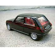 Renault 5 Alpine Turbo Black Solido Diecast Model Car 1/18