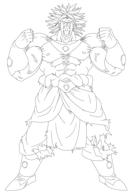 dragon ball z coloring pages of broly broly coloring pages coloring home