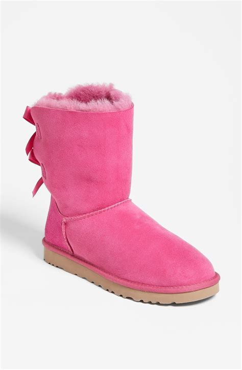 pink ugg boots with bows ugg bailey bow boot in pink princess pink lyst