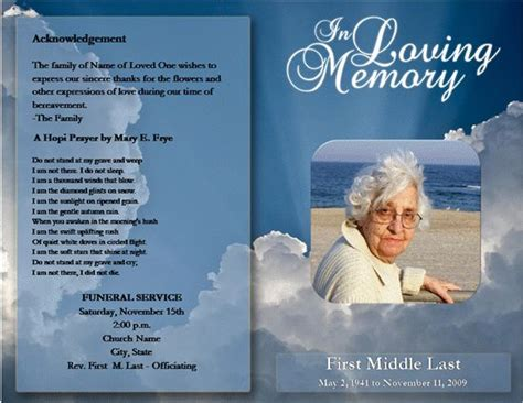 downloadable funeral bulletin covers click funeral