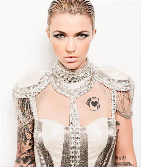 what does ruby rose neck tattoo say stunning ruby tattoos all you wanted to