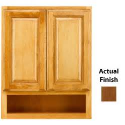 Kraftmaid Bathroom Cabinets Shop Kraftmaid 24 In W X 30 In H X 7 In D Chestnut Bathroom Wall Cabinet At Lowes