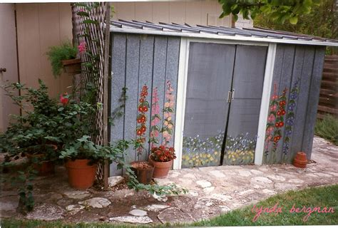 Painting Shed by Lynda Bergman Decorative Artisan Painting Artwork On An