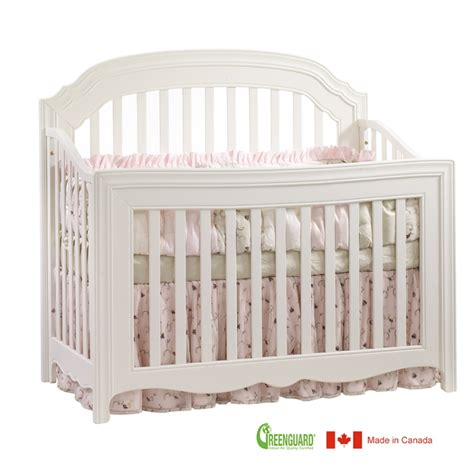 White Convertible Baby Crib Natart Allegra 5 In 1 Convertible Crib In White Ideal Baby