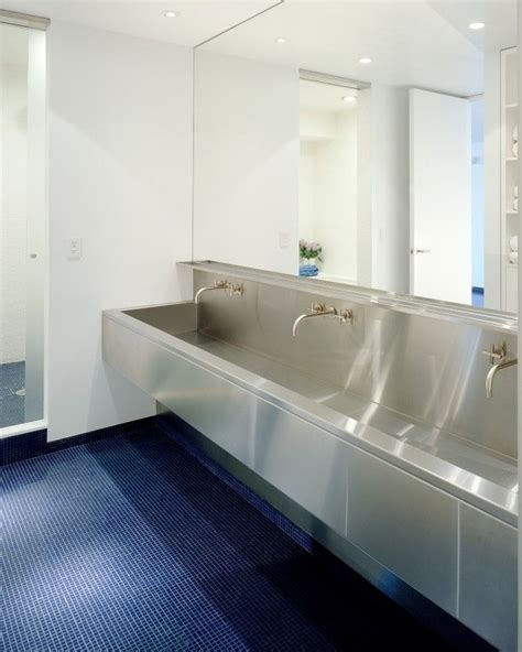 commercial trough sinks for bathrooms ny loft by delson sherman trough like stainless steel
