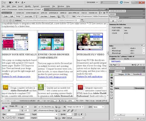 layout photoshop dreamweaver dreamweaver cs5 free download