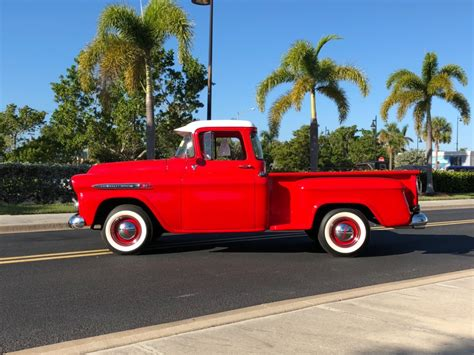red christmas vintage pick ups for sale 1959 chevrolet apache 31 frame restored florida step side up showroom condition