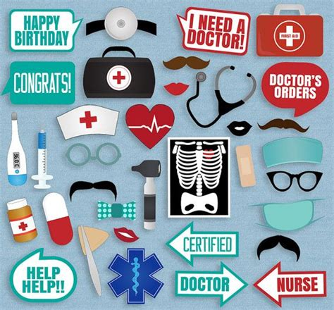 health themed events 35 medical themed party photo booth props doctor props