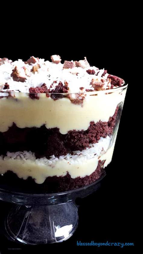 white chocolate almond joy trifle blessed  crazy