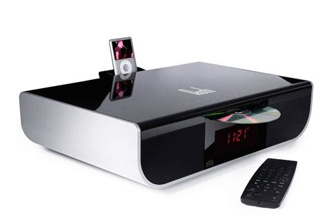 Speaker Dvd roth audio alfie integrated 2 1 speaker system with dvd cd and ipod dock black