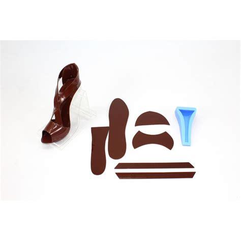 fondant high heel shoe kit brown color cake