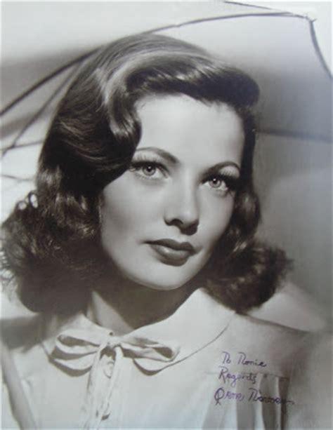 1920s gangster female hairdos gwendoline curl beauty inspiration gene tierney