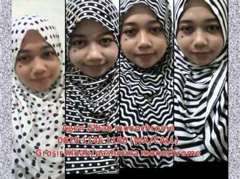 Grosir Jilbab Murah Pasmina Monocrome Hq 0823 1146 1160 wa call grosir jilbab monochrome murah