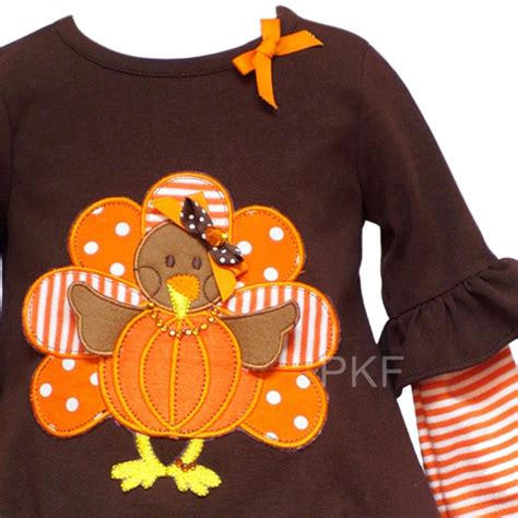 New baby girls thanksgiving turkey boutique size 24m clothes nwt ebay