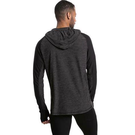 mens black hoody sleeve running sports hoodie