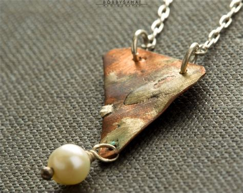 Clay Earrings White Blinking sterling silver copper landscape necklace jewelry by jason stroud jewelry i like