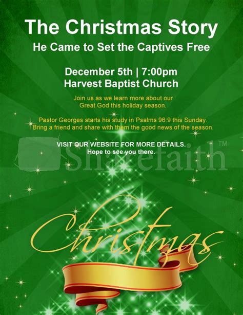 christmas story church flyer template flyer templates