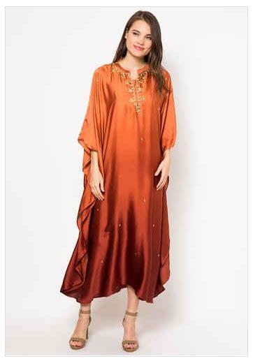 Gamis Jubah Wanita kumpulan model baju jubah bordir muslim wanita 2015
