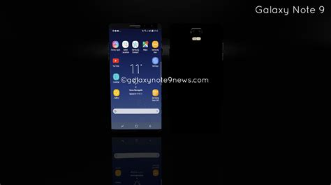 1 samsung galaxy note 9 phone samsung galaxy note 9 gets render concept phones