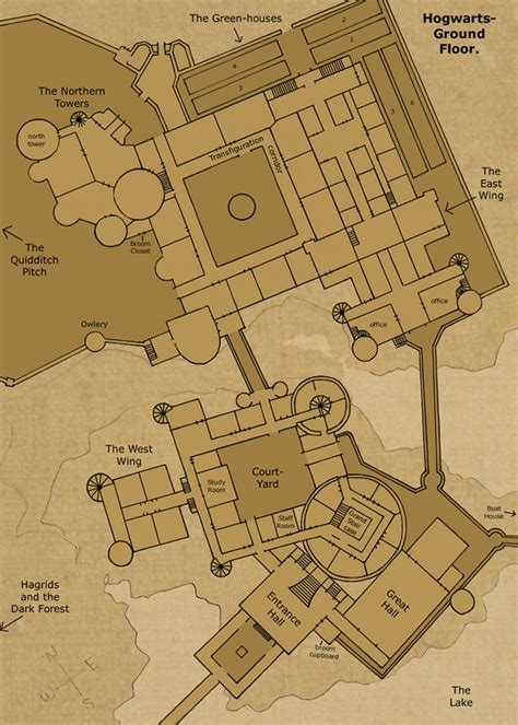 Hogwarts Castle Floor Plan | i love floor plans on pinterest floor plans hogwarts