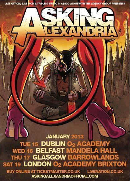 Asking Alexandria Gagak the gauntlet tour dates