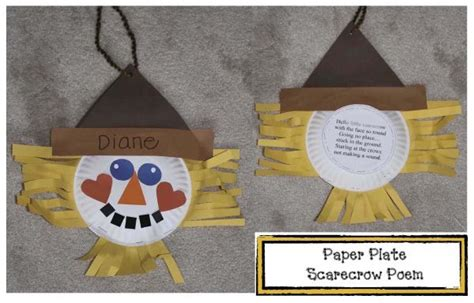 Paper Plate Scarecrow Craft - free paper plate scarecrow poem craft quot hello