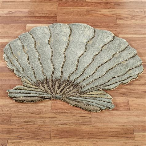 Seashell Bath Rug Seashell Bathroom Rug Seashell Bathroom Rugs Collection On Ebay Saturday Ltd Coastal Collage
