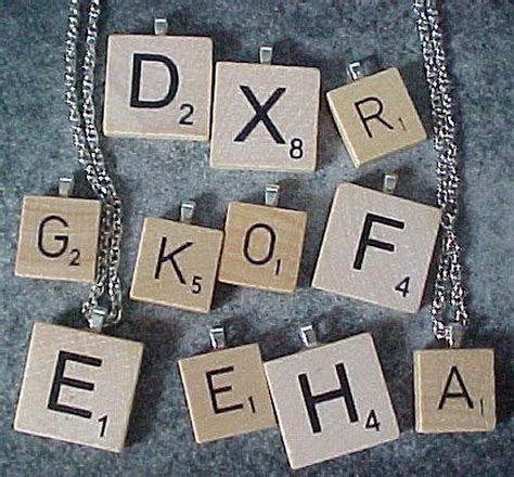 scrabble tile size wood scrabble tiles as pendants two sizes small and