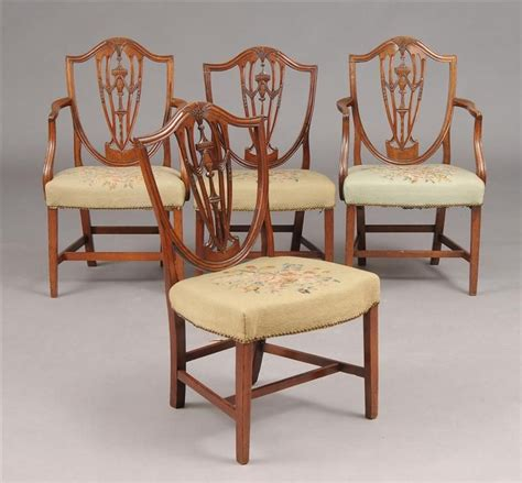 Hepplewhite Dining Room Furniture by Set Of Eight Period American Hepplewhite Dining Chairs At 1stdibs