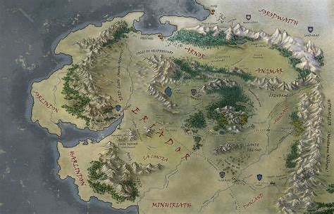 entire middle earth map map middle earth picture ideas references