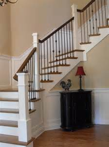 Wrought iron balusters staircase traditional with stair ideas post to