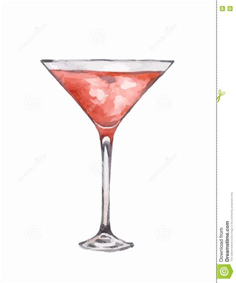 birthday martini white background watercolor martini glass stock vector image of