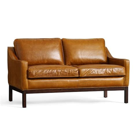 leather couch pottery barn dale leather loveseat pottery barn
